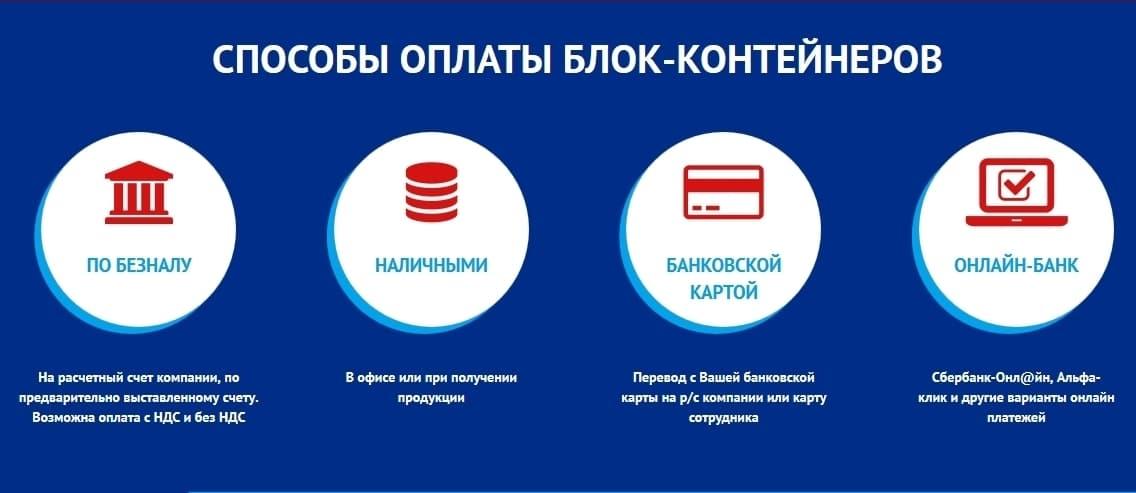 Варианты оплаты в компании СПК Ванда